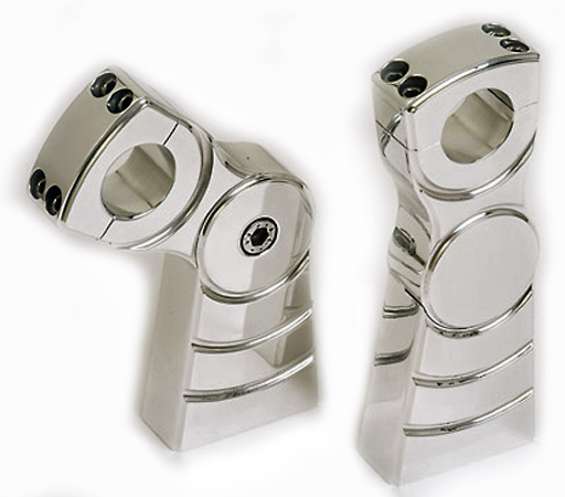High End Aluminium 125mm Handlebar Risers for 1 Inch Handlebars