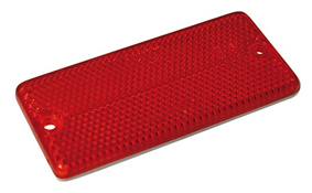 Self Adhesive or Screw On Rectangular Rear Reflector