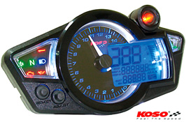 Koso RX1N Black Face GP Style Motorcycle Speedo Cockpit Display