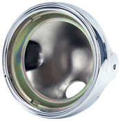 BikeIt 7 Inch Round Chrome Metal Headlight Casing