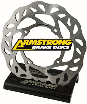 Kawasaki Rear Brake Disc Armstrong Wavy Solid Motorcycle Rotor
