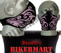 Bandero Ladies Tribal Pink Flames Facemask Motorcycle Face Mask