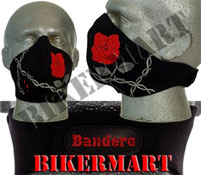 Bandero Ladies Wild Rose Facemask Motorcycle Face Mask