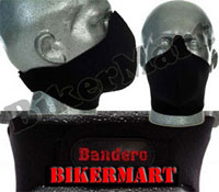 Bandero Midnight Black Facemask Motorcycle Scooter Face Mask