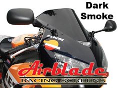 Airblade Double Bubble DARK SMOKE Motorbike Track Day Screen