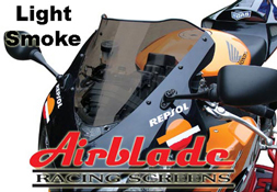Airblade Double Bubble LIGHT SMOKE Motorbike Racing Screen