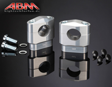 ABM Fat Bar Risers CNC Aluminium 28~6mm Bar Fitting