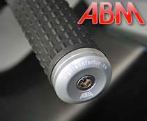 ABM shortCap CNC Milled Bar End Weights in a Race Design
