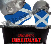 Bandero Scottish Saltire Braveheart Facemask Motorbike Scooter Mask