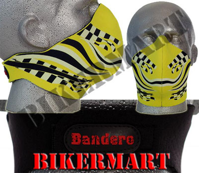 Bandero Chequer Mod Facemask Motorcycle Scooter Face Mask