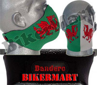 Bandero Welsh Dragon Cymru Facemask Motorbike Scooter Face Mask