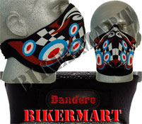 Bandero Psychedelic Facemask Motorbike Scooter Face Mask
