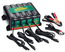 BATTERY TENDER 4-BANK System 1.25A Motorcycle Workshop Charger