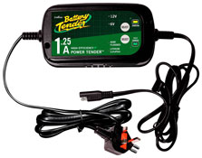 Battery Tender Power Tender Dual Selectable 1.25A Battery Charger