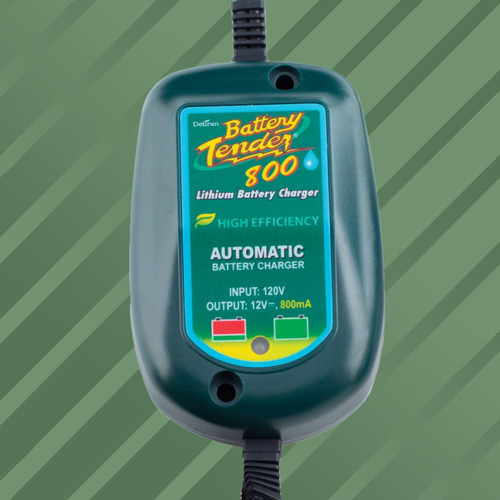 Battery Tender Weatherproof 800mA Lithium Motorcycle Charger
