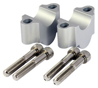 Aluminium CNC Motorcycle 30mm Handlebar Riser Clamps