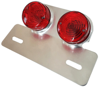 Twin Round Rear Motorcycle Stop and tail Lamp with Hanger