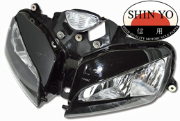 HONDA CBR600RR 03-06 SHIN YO Replacement Headlight E-marked