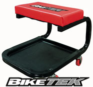 BikeTek Motorbike Workshop Creeper Seat with Tool Tray