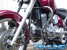 Daelim VL125 Daystar Fehling Chrome Engine Crash Bars