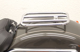 Harley HD Softail Fehling Chrome Passenger Luggage Rack