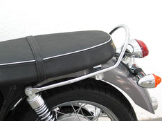 Triumph Bonneville T100 and Scrambler FEHLING Chrome Seat Rail