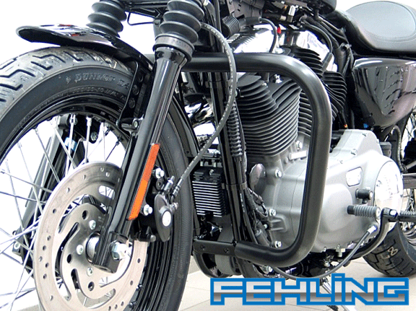 HD Sportster Evo after 2004 Roadster and Low Nightster and Iron Fehling Oversize Black Engine Bars