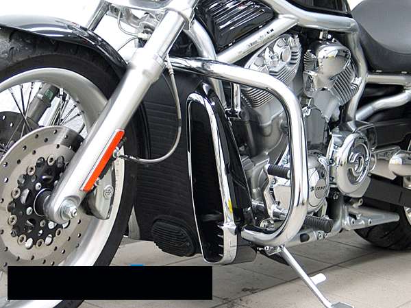 Harley Davidson HD V~Rod and Night Rod Fehling Oversize Chrome Engine Bars