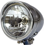 Chrome Custom Bullet Streetfighter Motorbike Headlight