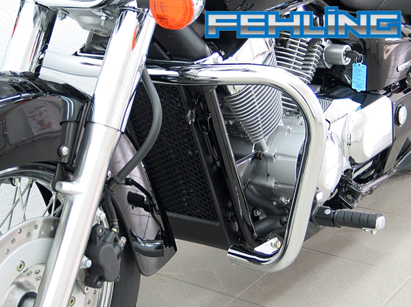 Honda Shadow VT750C and VT750C Spirit with ABS Fehling Chrome Oversize Engine Bars