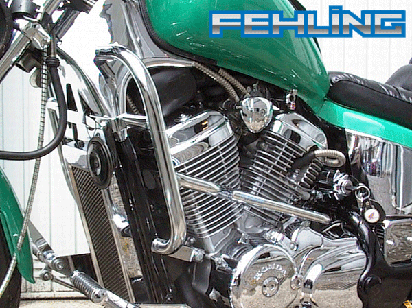 Honda VT600C 1988~00 Fehling Chrome Engine Protection Bars