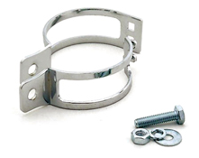 Chrome Universal Motorcycle Headlight and Indicator Brackets