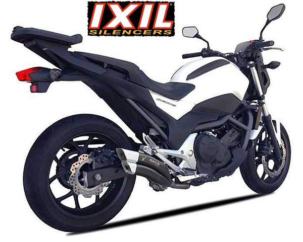 Honda NC700 X/S NC750 X/S 2016~ Euro4 IXRACE 2 Black Silencer E~Marked