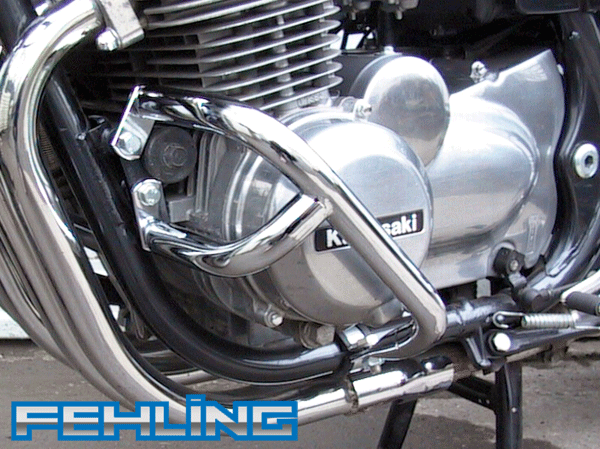 Kawasaki Zephyr 550 Zephyr 750 1991~99 Fehling Chrome Crashbars Engine Protection