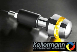 Kellermann BL2000 Chrome Motorcycle Bar End Indicators