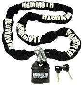 Mammoth Security 10mm Square 1800mm Motorbike Security Lock and Chain
