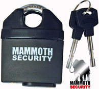 Mammoth Motorcycle or Scooter Shackle Lock