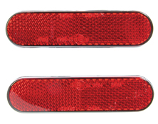 Self Adhesive Long Red Rear Reflector Kit E~Marked
