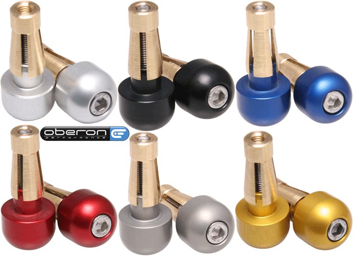 Oberon Performance CNC Small Universal Motorcycle Bar End Weights