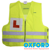 Oxford Bright 'L' Reflective Motorbike High Visibility Learner Vest