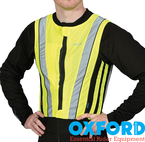 Oxford BrightTop Reflective Active Running or Motorbike Vest