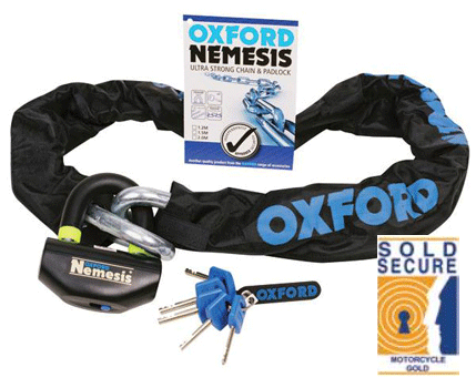 Oxford Nemesis Ultra Strong Motorcycle Chain & Disc Lock
