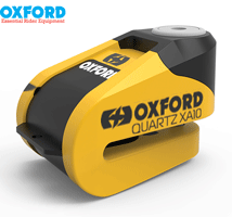 Oxford Quartz XA10 10mm Alarm Motorcycle & Scooter Disk Lock