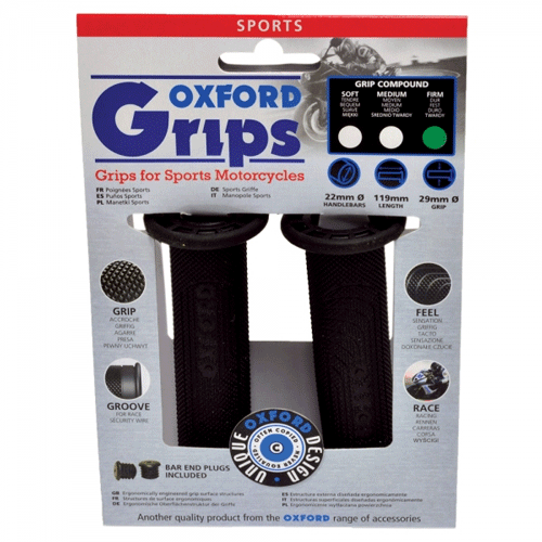Oxford Sports Motorcycle Handlebar Grips