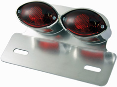 Twin Cateye Rear Motorcycle Stop and tail Lamp with Hanger