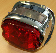 BikeIt Custom Chrome Motorcycle Stop and Tail Light
