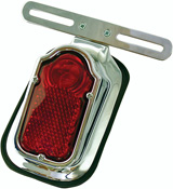 Tombstone Rear Custom Motorbike Stop Tail Light and Plate Hanger