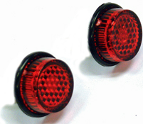 Self Adhesive Round Rear Reflectors Pair Supplied