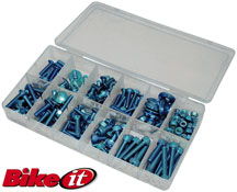BikeIt 150 Piece Metric Anodised Motorbike Bolt Kits