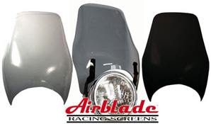 Airblade Tall Boy Headlight Mounted Motorbike Fly Screen